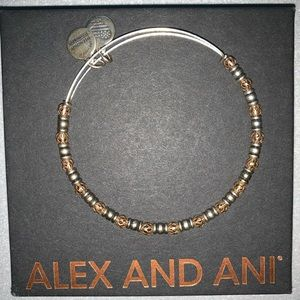 Alex and Ani Metal Beaded Bangle